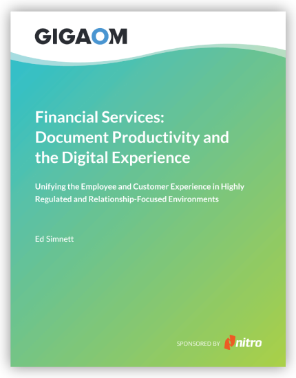 Document Productivity and the Digital Experience